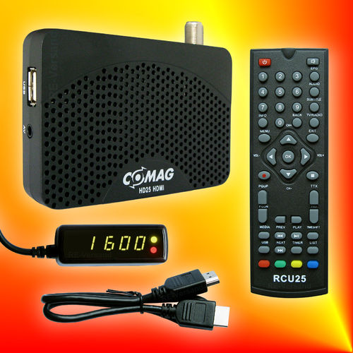 COMAG HD25 HDMI USB 2.0 PVR Ready Mini Satelliten-Receiver (DVB-S/S2)